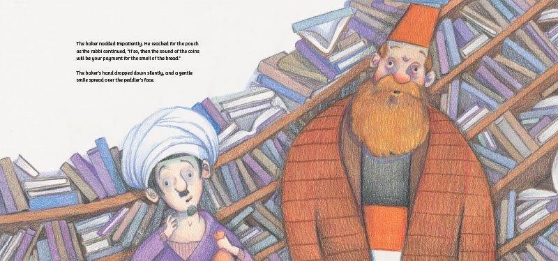 Peddler and the Baker Illustration